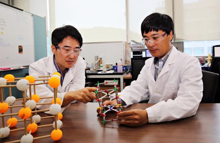 김건태 교수(에너지 및 화학공학부), 박노정 교수(자연과학부)와 동의대 신지영 교수, 일본 큐슈대 이시하라(Tatsumi Ishihara) 교수가 참여한 국제 공동 연구팀