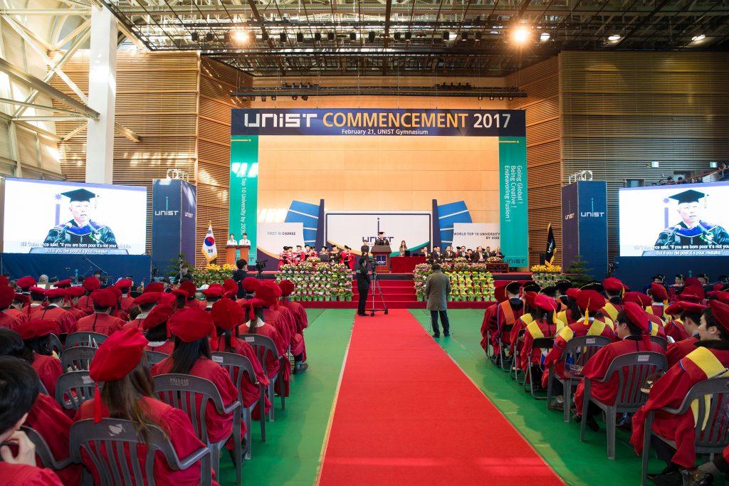 21일 개최된 2017년 UNIST 학위수여식