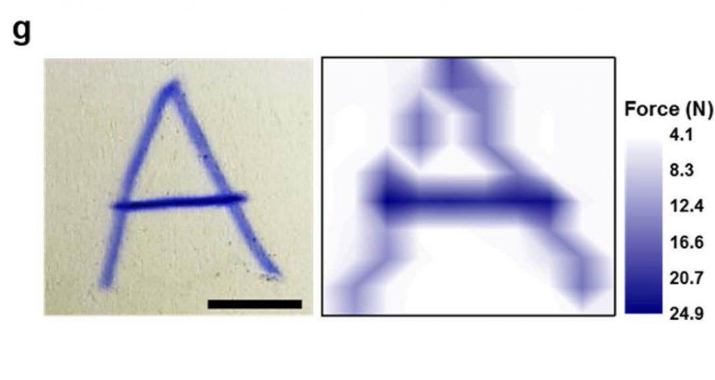 터치스크린에 글씨를 쓰면서 누른 힘의 크기에 따라 진하기가 달라져 필적 감정에도 이용할 수 있다.