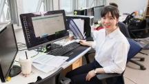 울산이 고향인 오슬기 변호사는 UNIST 벤처기업인 코어닷투데이에서 법률과 기술의 만남을 주선하는 일을 하고 있다. | 사진: 김경채