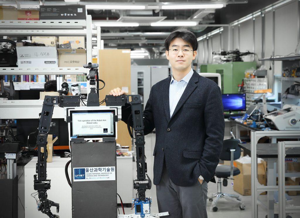 배준범 기계항공 및 원자력공학부 교수와 그의 연구팀이 개발한 '아바타로봇'의 모습. | 사진: 김경채
