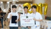 로트만-UNIST 트레이딩 경진대회에서 1위를 차지한 UNIST 학생팀의 모습. 팀명은 MSG로 노상환, 김명중, 이규민 학생으로 구성됐다. | 사진: 김경채