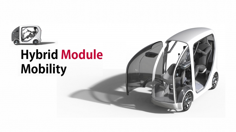 정연우 교수팀에서 개발한 '하이브리드 모듈 모빌리티'의 개념도. | 제공: 정연우 교수팀