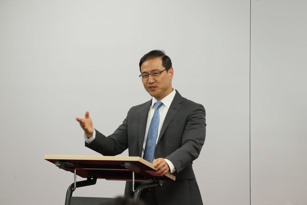 FH13 엔젤클럽 박민준 회장이 이번 교류회의 의미를 밝히고 있다. | 사진: 김경채