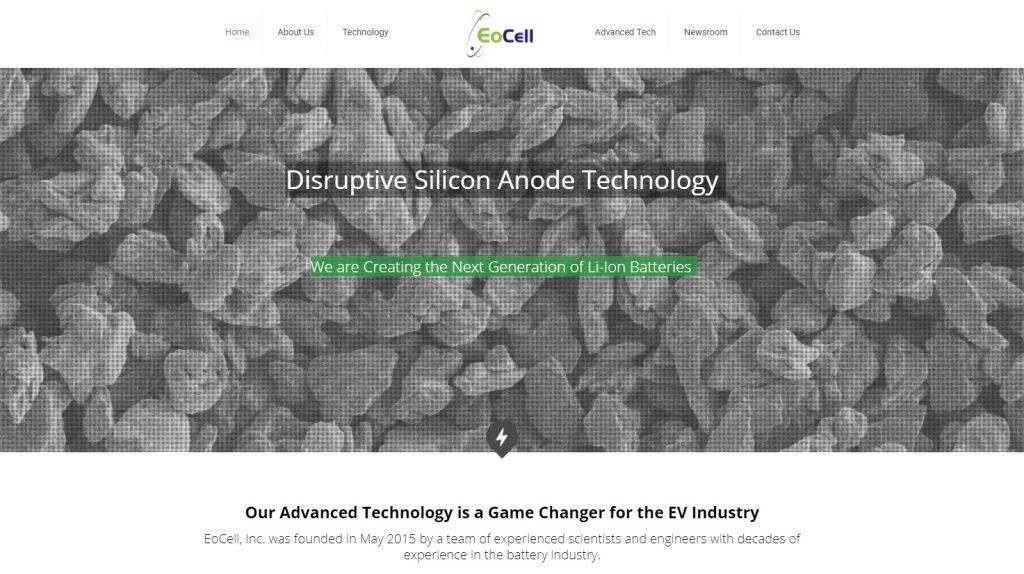정수경 박사가 재직하고 있는 실리콘밸리의 배터리 관련 벤처기업, EoCell의 홈페이지