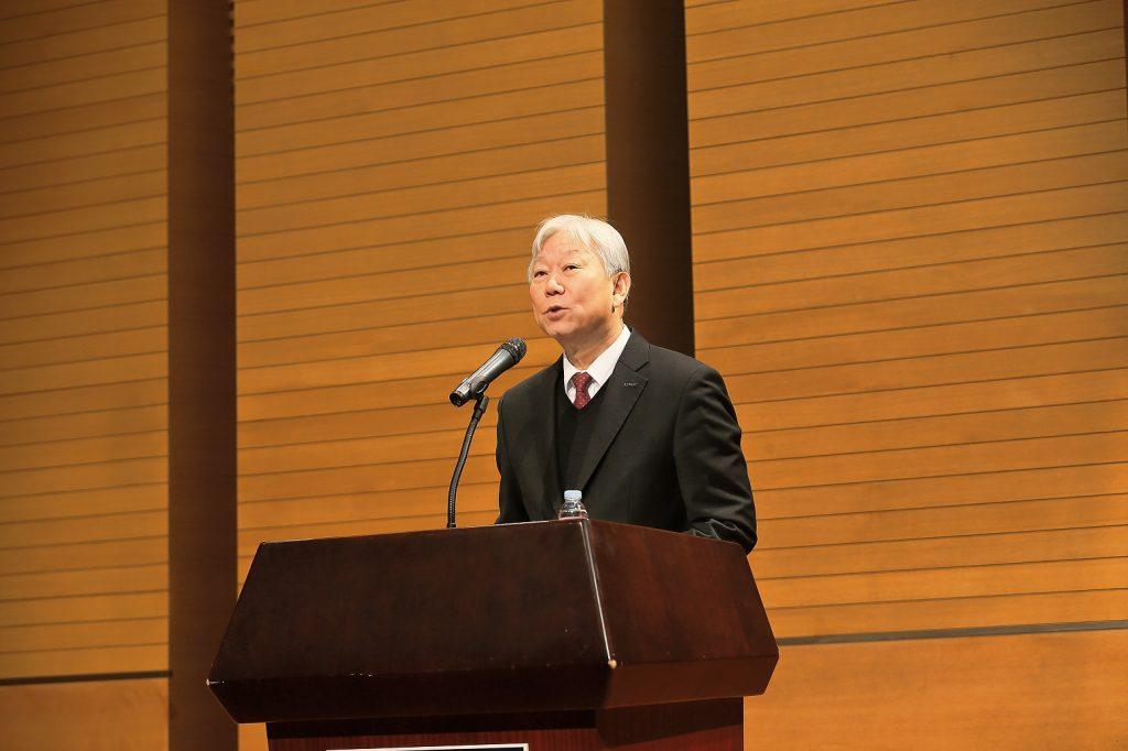 정무영 총장은 신년사를 통해 올해 한 단계 성장, 발전하는 UNIST가 될 것을 당부했다. | 사진: 김경채