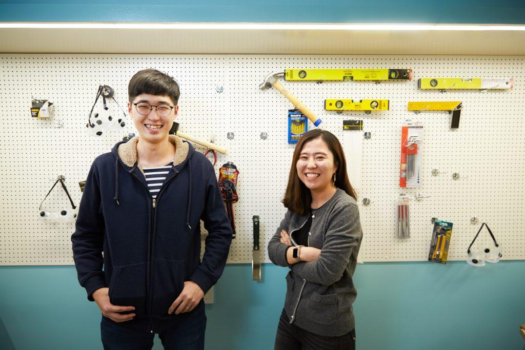 유니스파크에서 만난 김보경 대표(왼쪽)과 OOO 학생. | 사진: 김경채