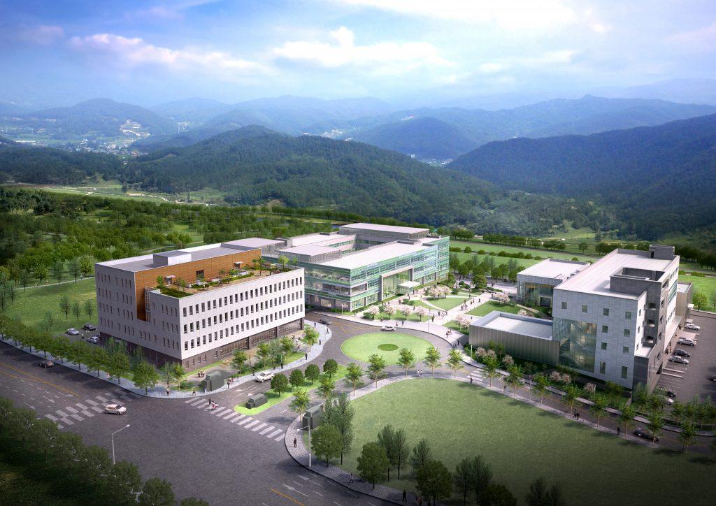 산학융합지구 조감도. 우측 건물이 UNIST가 사용하는 산학융합캠퍼스 건물이다.| 사진: 울산시