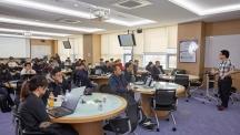 22일 UNIST 110동 N106호에서 '산업인공지능 적용을 위한 파이선 기반 딥러닝 강좌'가 진행되고 있다. | 사진: 김경채