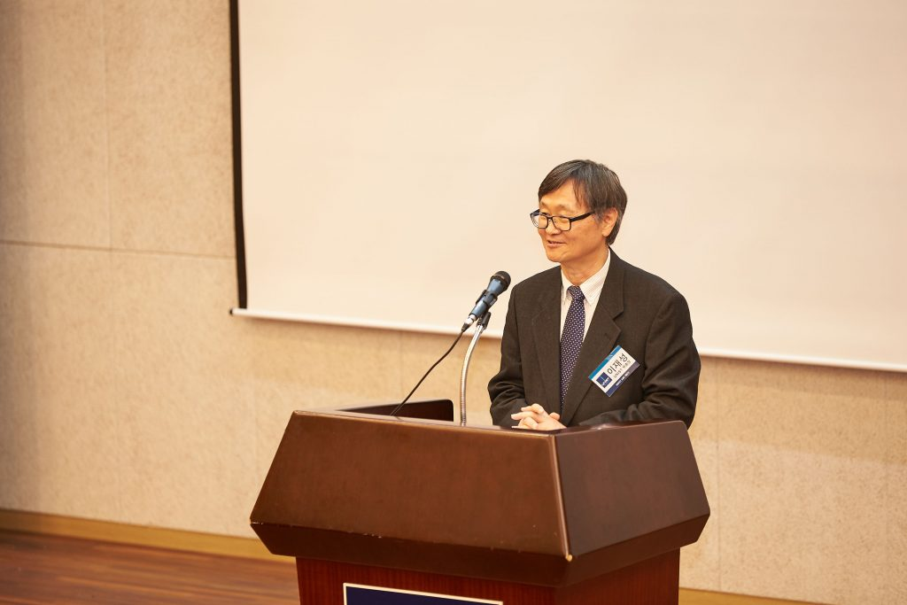 이재성 부총장이 AMP 5기의 입학을 환영하는 인사말을 전하고 있다. | 사진: 김경채