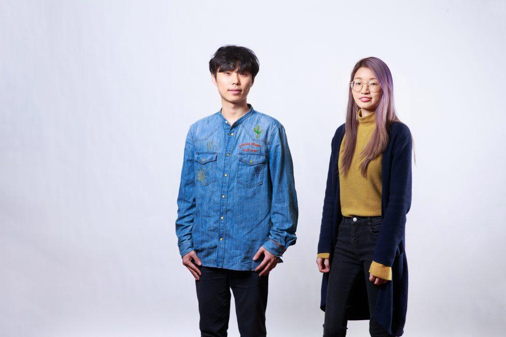 AI 컬링 프로그램을 개발해낸 UNIST 컴퓨터공학과의 이교운 학생과 김솔아 학생(왼쪽부터). | 사진: 김경채