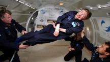 2007년 NASA에서 무중력 상태를 체험했던 스티븐 호킹의 모습. | 사진: NASA 제공