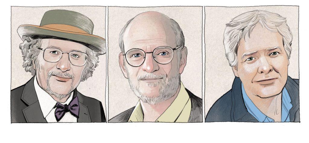왼쪽부터 제브리 홀 박사, 마이클 로스배시 박사, 마이클 영 박사. | 그림: 레모