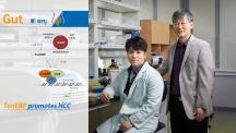 톤이비피 유전자와 간암 사이의 관계를 밝혀낸 UNIST 연구진의 모습. 왼쪽부터 이준호 연구원과 권혁무 교수다. | 사진: 김경채