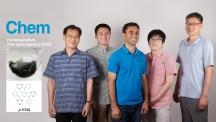 플라스틱 자석을 개발한 UNIST 연구진. 왼쪽부터 유정우 교수, 신동빈 연구원, 자비드 무하마드 연구교수, 박정민 연구원, 백종범 교수. | 사진: 김경채