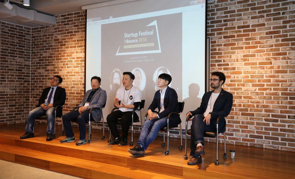 제임스 셀프 교수(가장 오른쪽)가 10월 7일(일) 부산창조경제혁신센터에서 열린 '원더 글로벌 워크숍'에서 기조강연자로 참석했다.   사진: 제임스 셀프 교수 제공