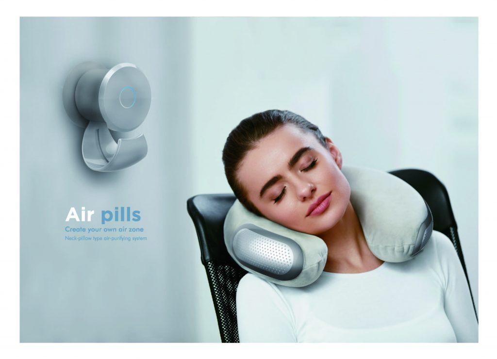 배웅재 학생의 휴대용 목베개형 공기청정기 | 사진: 디자인 및 인간공학부