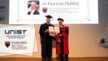파와즈 하발 하버드 공대 학장, UNIST 최초 명예박사 되다