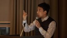 기술경영전문대학원에 재학 중인 정천환 씨가 (주)네오넌트의 스마트팩토리 고도화를 위한 전략을 소개하고 있다. | 사진: 김경채