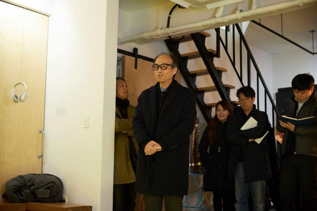 오프닝 행사에는 조재원 교수가 참석해 인사말을 전했다. | 사진: 김경채