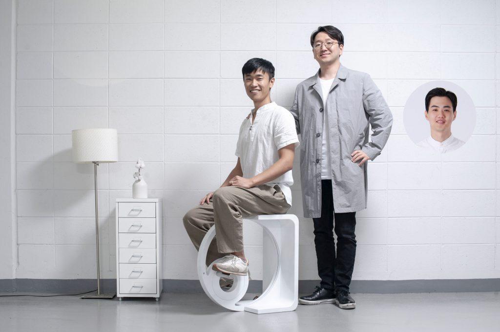 스툴디를 디자인한 박영우 교수팀. 왼쪽부터 박상진 연구원, 박영우 교수, 조은준 연구원.
