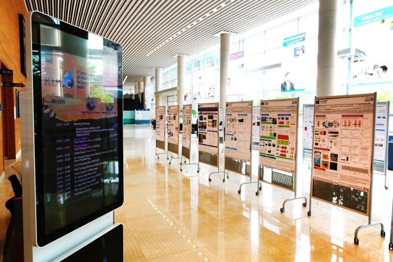 Research posters, displayed at the 4th International Symposium on Advanced Materials for Energy & Environmental Issues (ISAMEE) on June 4, 2015.