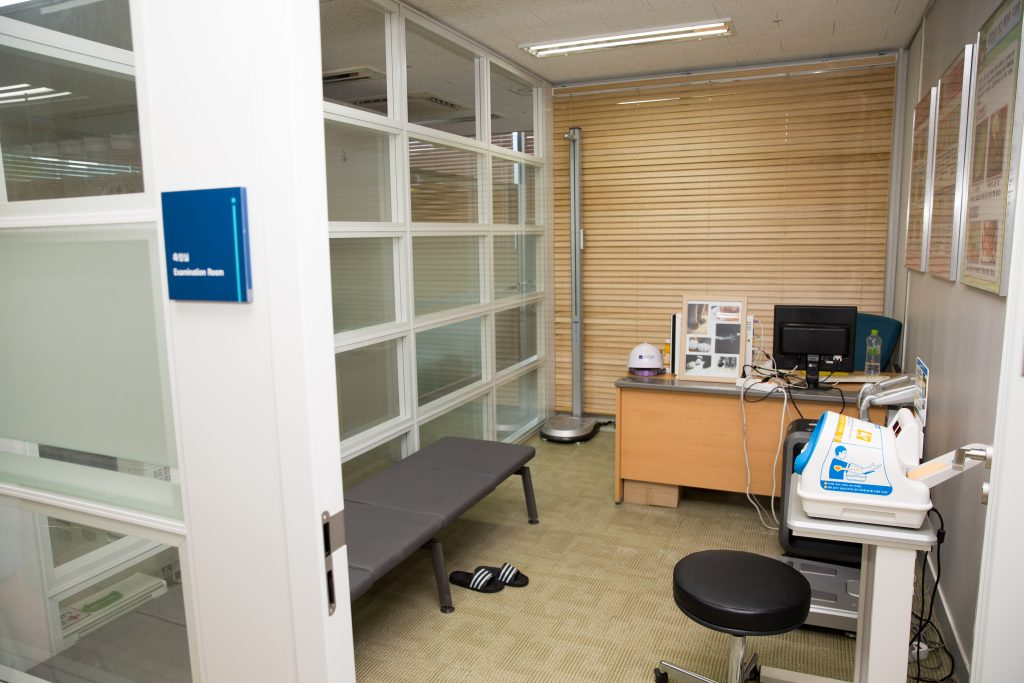 Inside UNIST's newly-expanded UNIST Health Care Center.