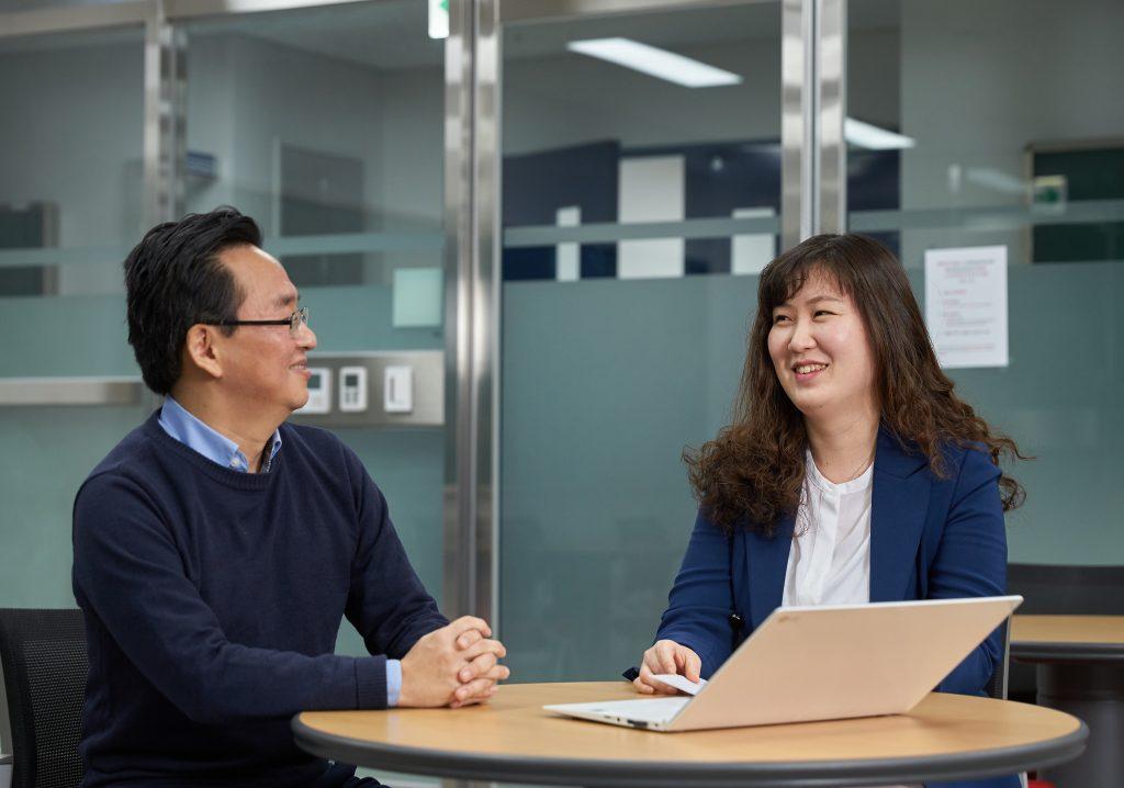 Hyojung Lee and Prof Chang Hyeong Lee