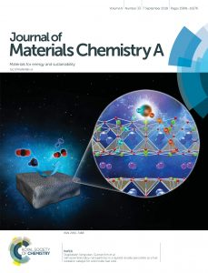 The front cover of the Journal of Materials Chemistry A: Materials for energy and sustainability, Volume 6, Number 33, (2018).