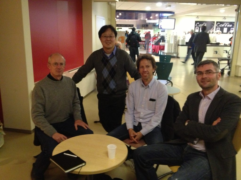 Professor Moses Chung in the Department of Physics at UNIST is with AWAKE research team at CERN cafeteria.