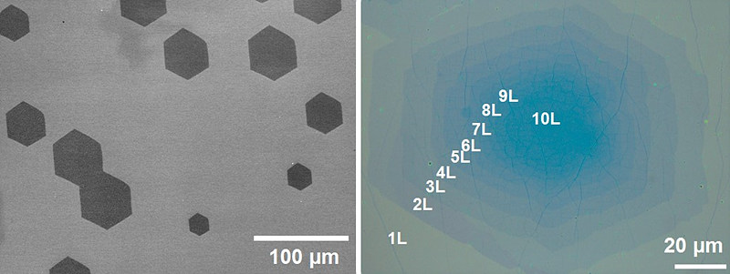 Graphene sheets grown on top of single crystal copper foil