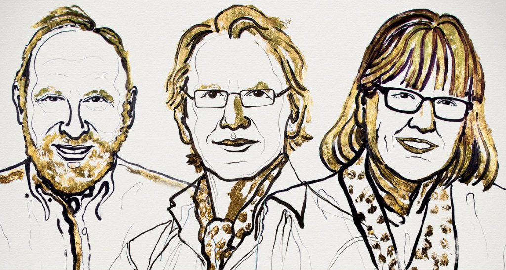 Above are the 2018 Nobel Prize in Physics winners: Arthur Ashkin, Gérard Mourou, and Donna Strickland I Image Credit: