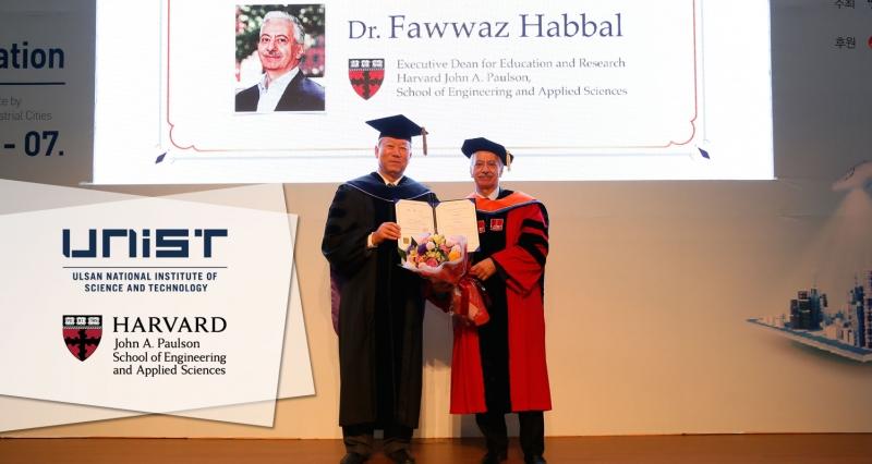 Executive Dean Fawwaz Habbal from Harvard SEAS Receives Honorary Degree from UNIST