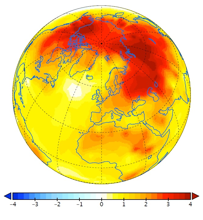 Amplification factor of observed surface temperatures relative to the global mean surface temperature