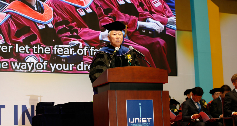 """[2019 Commencement] """"Your dreams will surely come true if you are willing to challenge and fail with growing minds."""""""