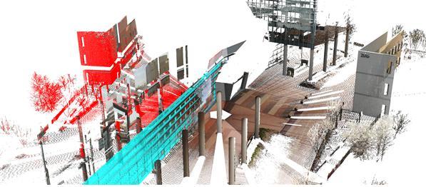연구그림-3차원-영상에서-유리면하늘색과-허상붉은색을-검출한-장면