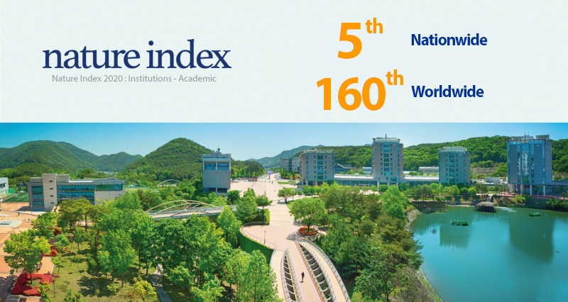 Nature Index 2020: UNIST Ranked No. 5 Nationwide