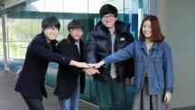 과학기술전문사관에 선발된 UNIST 학생 4명의 모습이다. 왼쪽부터 홍슬기, 장성온, 이기웅, 홍지원 학생.