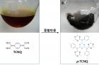그림1_플라스틱-자석의-원료가-된-물질인-TCNQ와-고온에서-중합-반응해-자성을-띠게-된-p-TCNQ.jpg