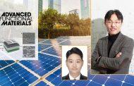'물'로 만든 유기 박막, 태양전지 효율 높이고 가격은 낮춘다!