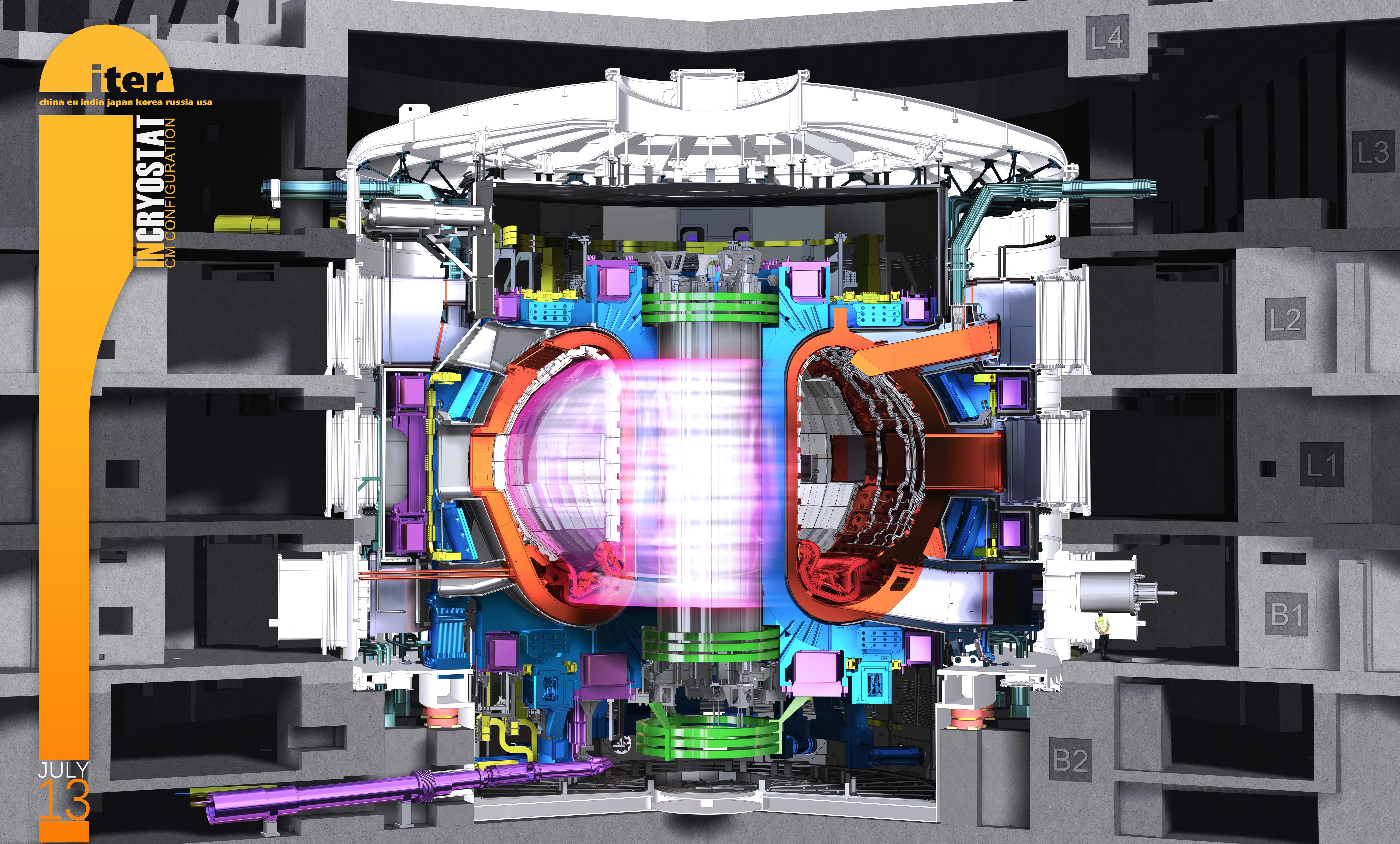 ITER 핵융합 반응장치 내부 단면도 | 사진: ITER