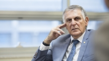 Dr. Dan Shechtman, the 2011 Nobel laureate in Chemistry is posing for a portrait.