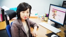 The Late Prof. Yoon Kyung Do (School of Nano-Bioscience and Chemical Engineering), sitting at her office at UNIST.