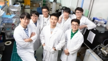 Prof. Baik's research team is posing for a group photo. Second row, left to right are Jae Won Lee, Kyeong Nam Kim, YoungMin Kwon, and HeeJun Kim. First row, left to right are Jeong Min Baik, Jinsung Chun, and Byeong Uk Ye.