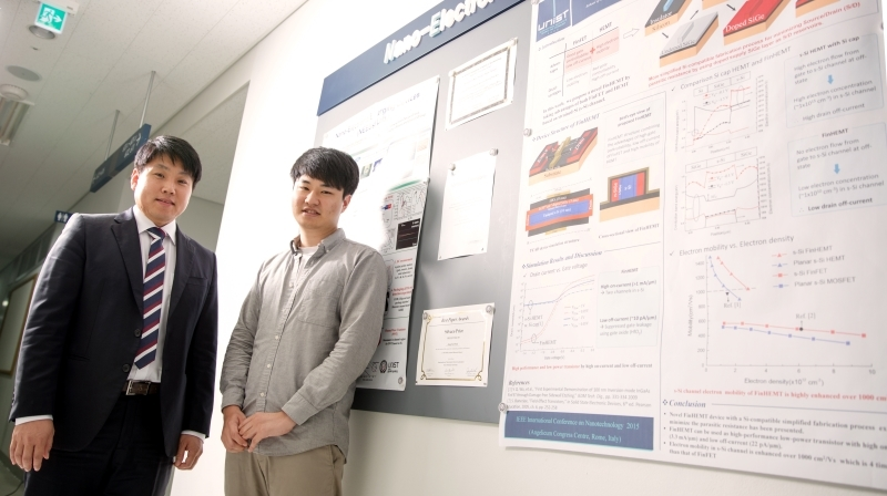 Prof. Kyung Rok Kim (left) and his student, Sung-Ho Kim (right) were named among a select group of the Nanoscale Horizons poster prize winners at IEEE NANO 2015.