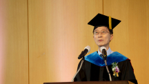 "Remarks by President Yong Hoon Lee: ""Remember to take an active role in society!"""
